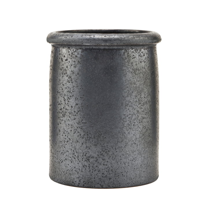 Pion utensil holder, black / brown by House Doctor