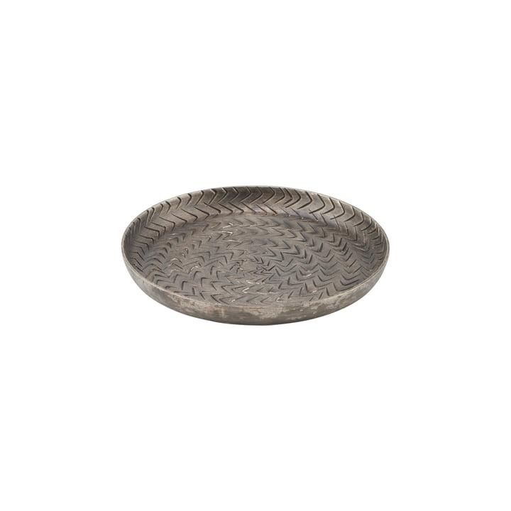 The rattan tray, Ø 12 cm, matt black Finish by House Doctor