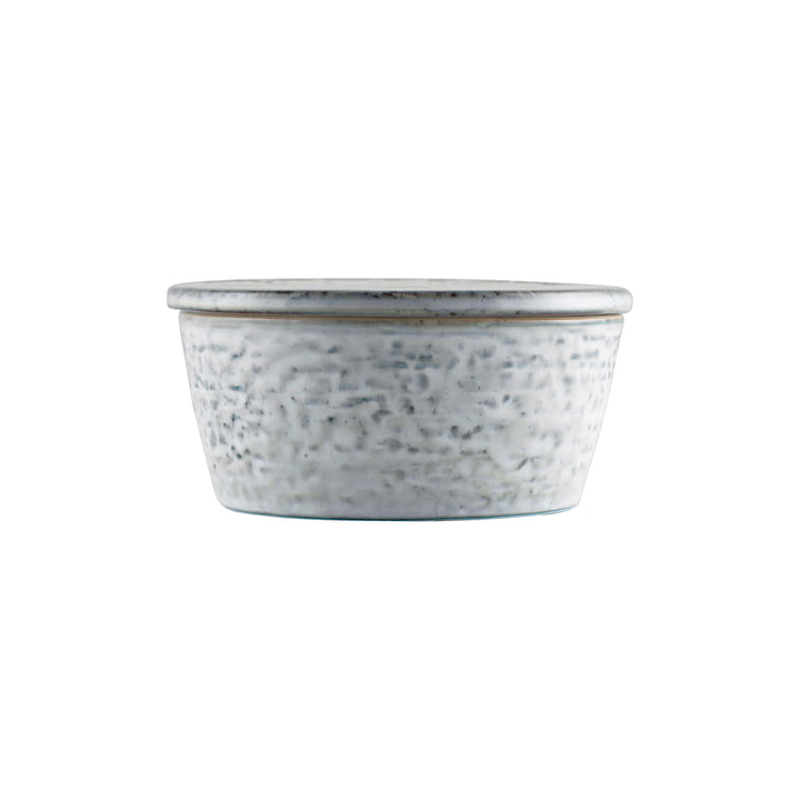 The Rustic bowl with lid, Ø 11 x H 5.5 cm, gray-blue by House Doctor