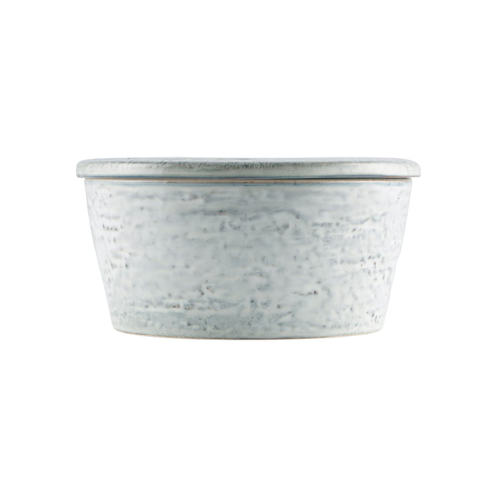 The Rustic bowl with lid, Ø 14 x H 7 cm, gray-blue by House Doctor