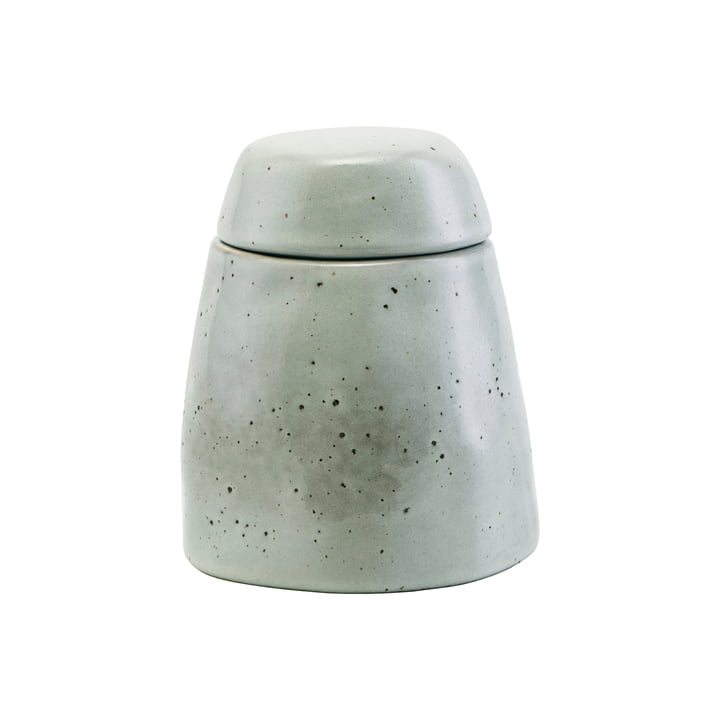 The Rustic sugar bowl with lid, gray-blue by House Doctor