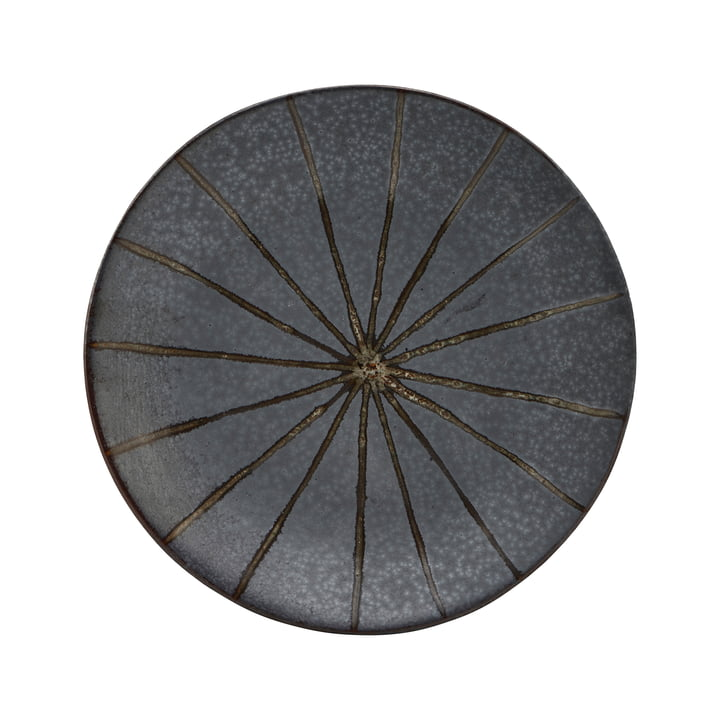 The Suns plate, Ø 15.7 cm, dark brown by House Doctor