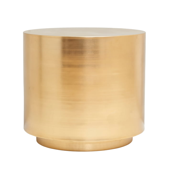 The Step side table, Ø 50 x H 45.7 cm, brass by House Doctor