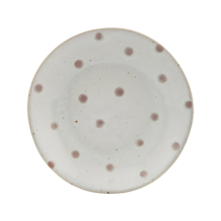 The Dots plate, Ø 15.7 cm, white / green by House Doctor