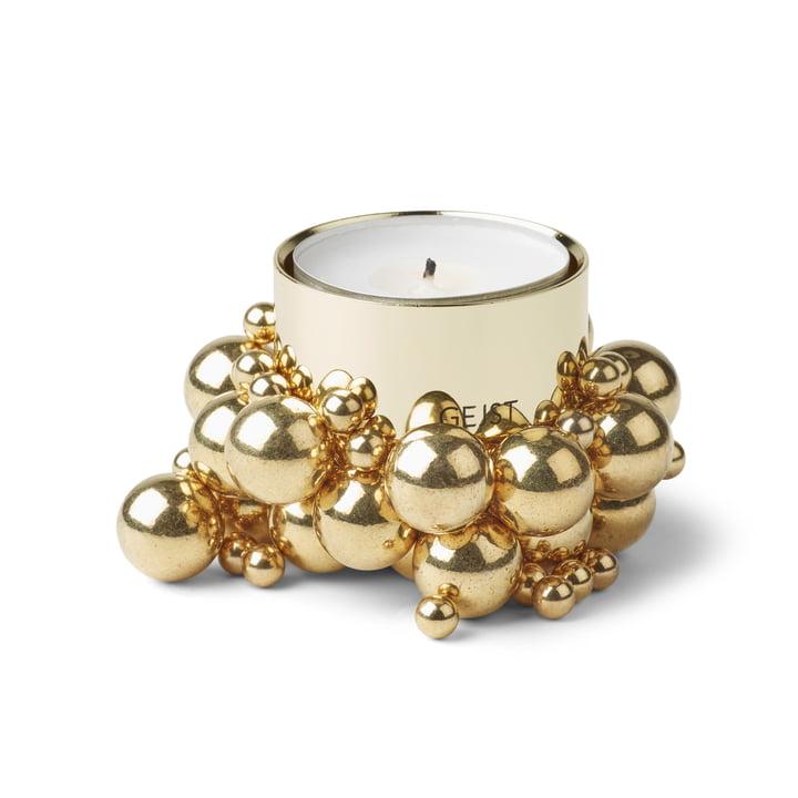 Molecyl tealight holder 1, brass by Gejst