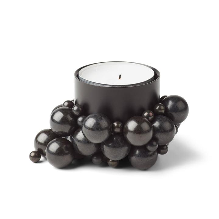 Molecyl tealight holder 1, black by Gejst