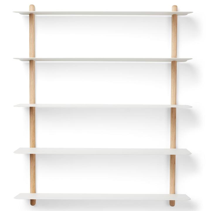 Nivo wall shelf E Large from Gejst in light oak / white