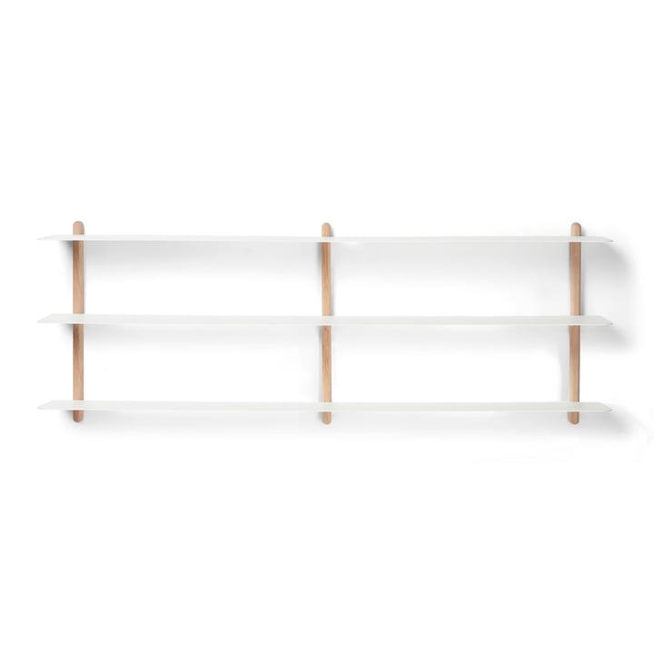 Nivo wall shelf D Large from Gejst in light oak / white