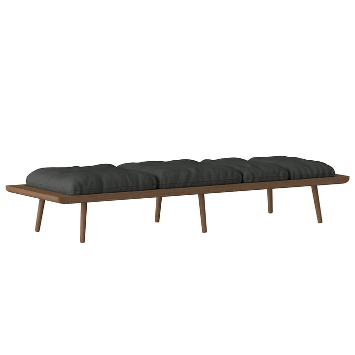 The Lounge Around Daybed, dark oak, slate gray by Umage