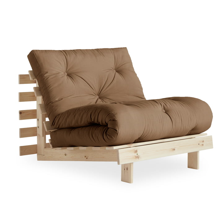 The Roots chair-bed 90 cm, pine nature / mocca (755) from Karup Design
