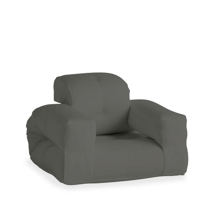 The Hippo OUT armchair, dark grey (403) from Karup Design
