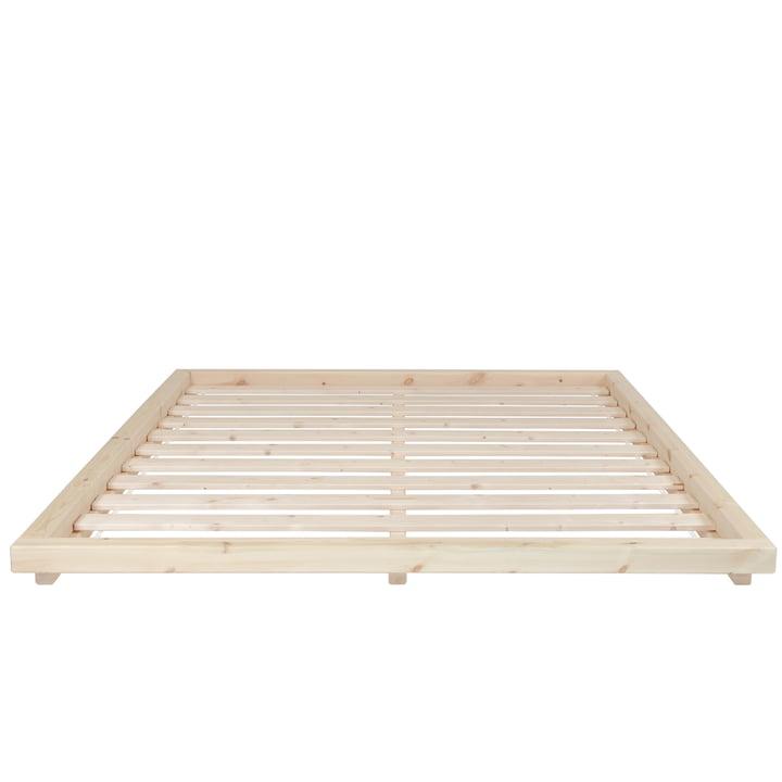 The Dock bedstead with slatted frame, 180 x 200 cm, clear varnished pine from Karup Design