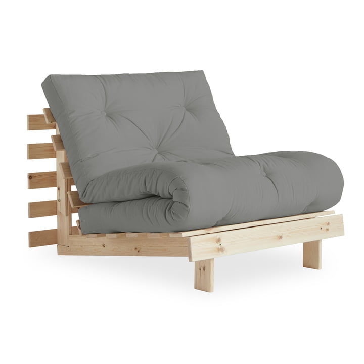 The Roots sleeper 90 cm, natural pine / grey (746) from Karup Design s