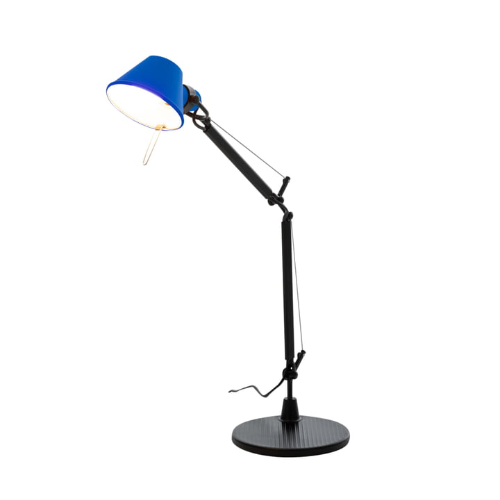 Tolomeo Micro Bicolor table lamp, black / blue by Artemide