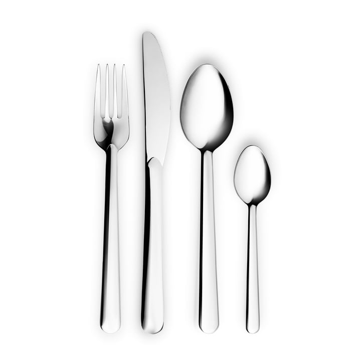 Legio Nova cutlery set by Eva Trio in stainless steel (16 pieces)