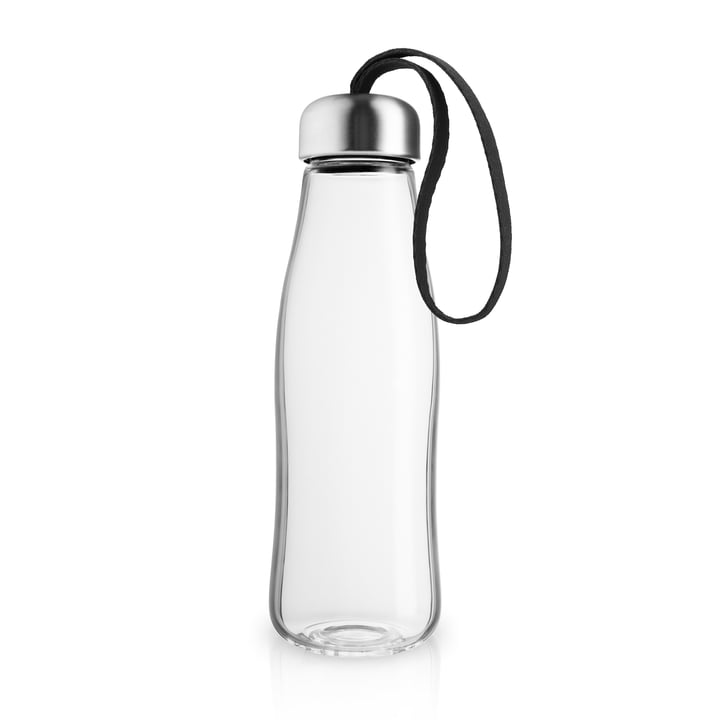 The glass drinking bottle 0.5 l, black by Eva Solo