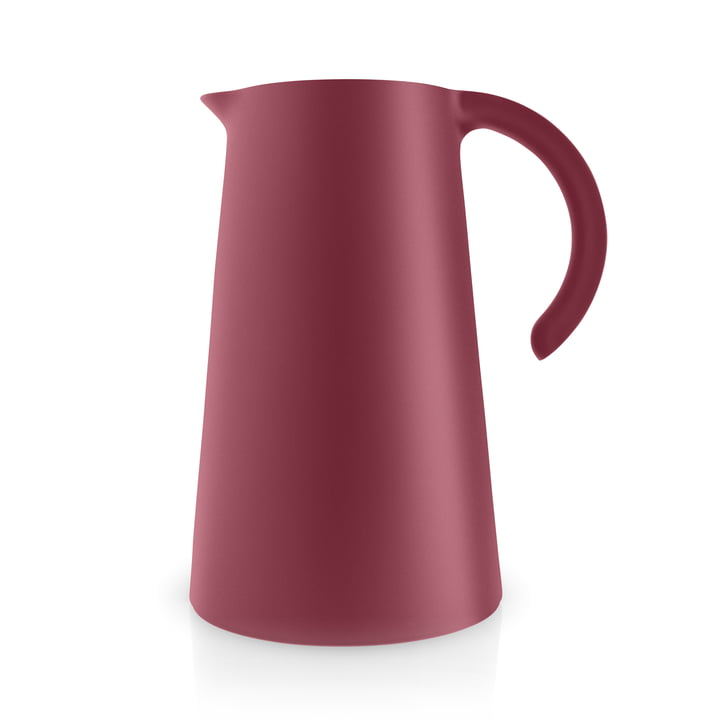The Rise vacuum jug 1 l, pomegranate matt by Eva Solo