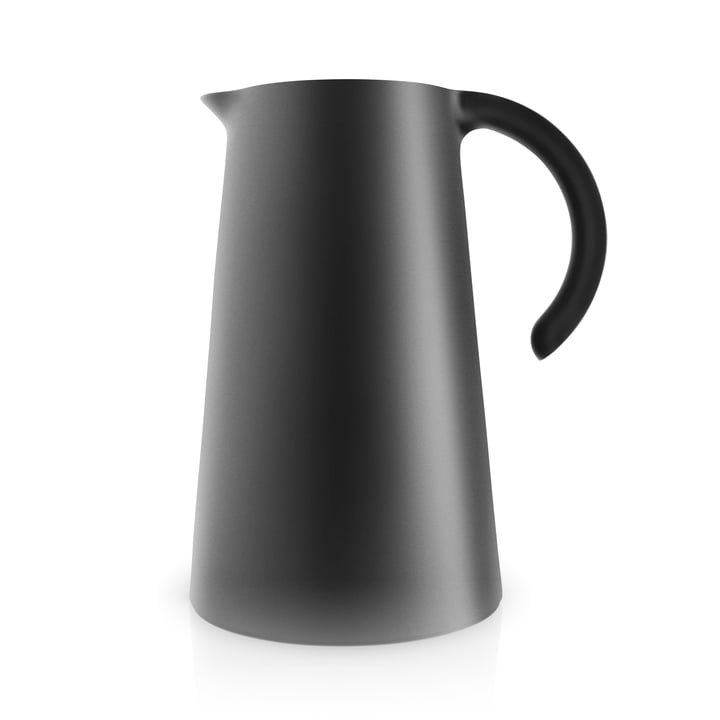 The Rise vacuum jug 1 l, black by Eva Solo