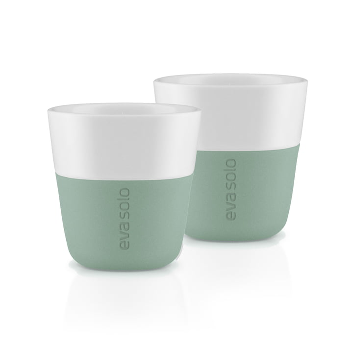 The espresso cups (set of 2), faded green by Eva Solo
