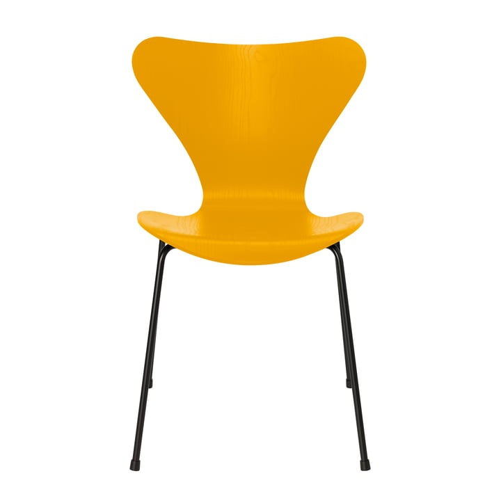 Series 7 chair by Fritz Hansen in true yellow colored ash / frame black