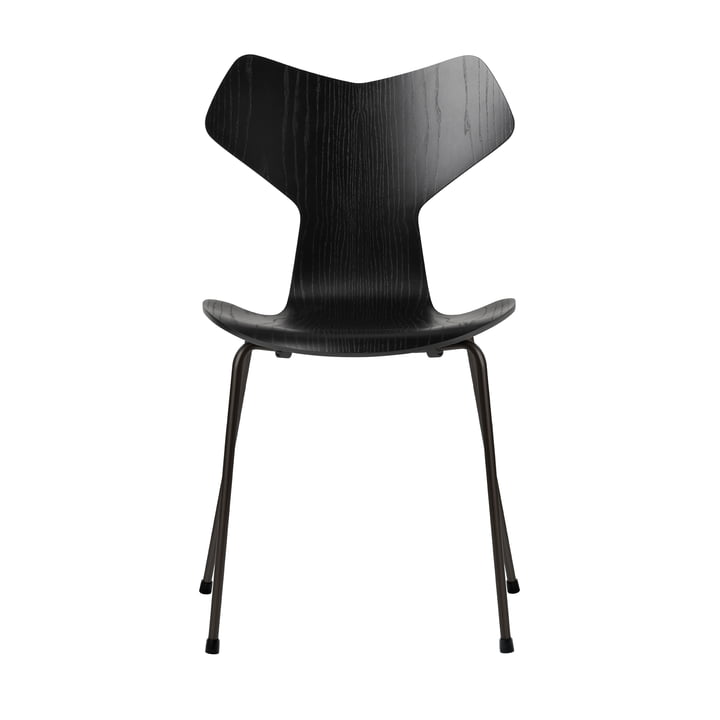 Grand Prix chair by Fritz Hansen in black colored ash / frame black