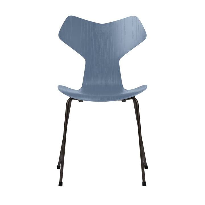 Grand Prix chair by Fritz Hansen in ash dusk blue colored / frame black