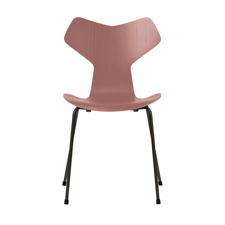 Grand Prix chair by Fritz Hansen in wild rose colored ash / frame black