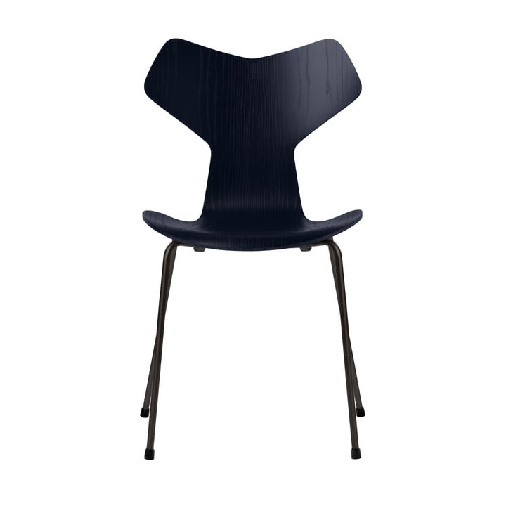 Grand Prix chair by Fritz Hansen in ash colored midnight blue / frame black