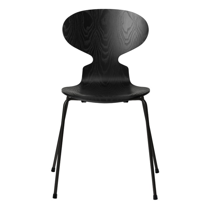 Ant chair by Fritz Hansen in black colored ash / frame black