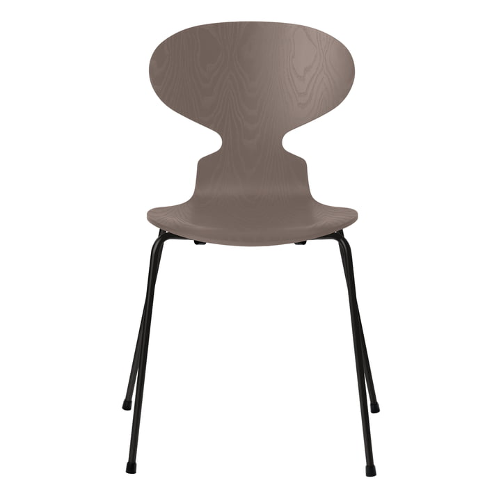 Ant chair by Fritz Hansen in deep clay colored ash / frame black
