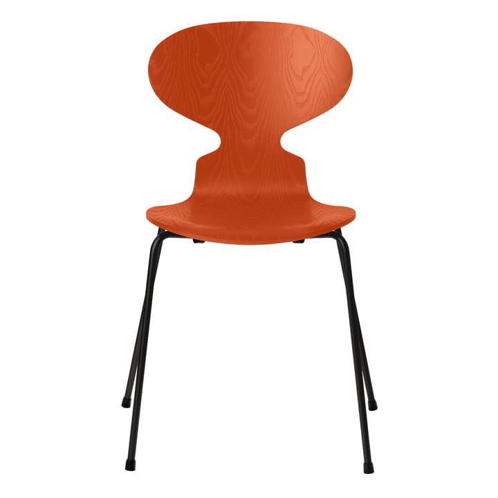 Ant chair by Fritz Hansen in ash paradise orange colored / frame black