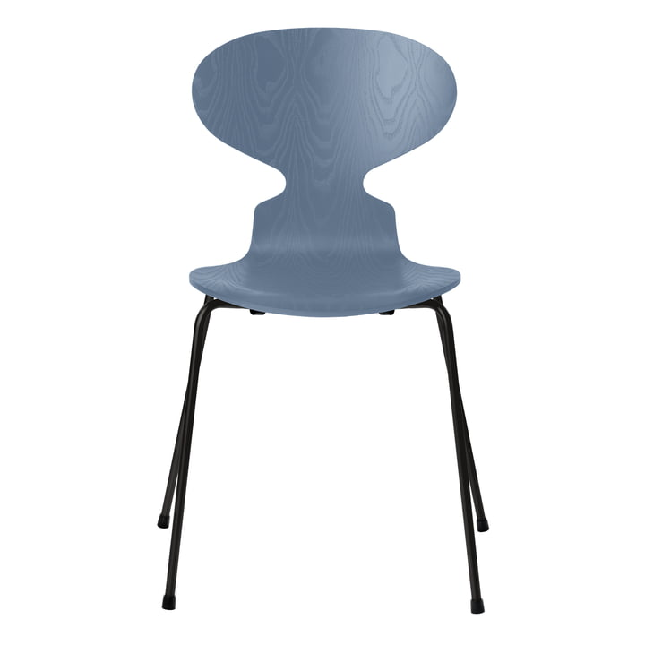 Ant chair by Fritz Hansen in ash dusk blue colored / frame black