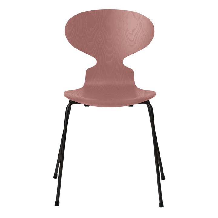 Ant chair by Fritz Hansen in wild rose colored ash / frame black