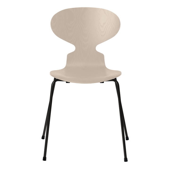 Ant chair by Fritz Hansen in ash light beige colored / frame black