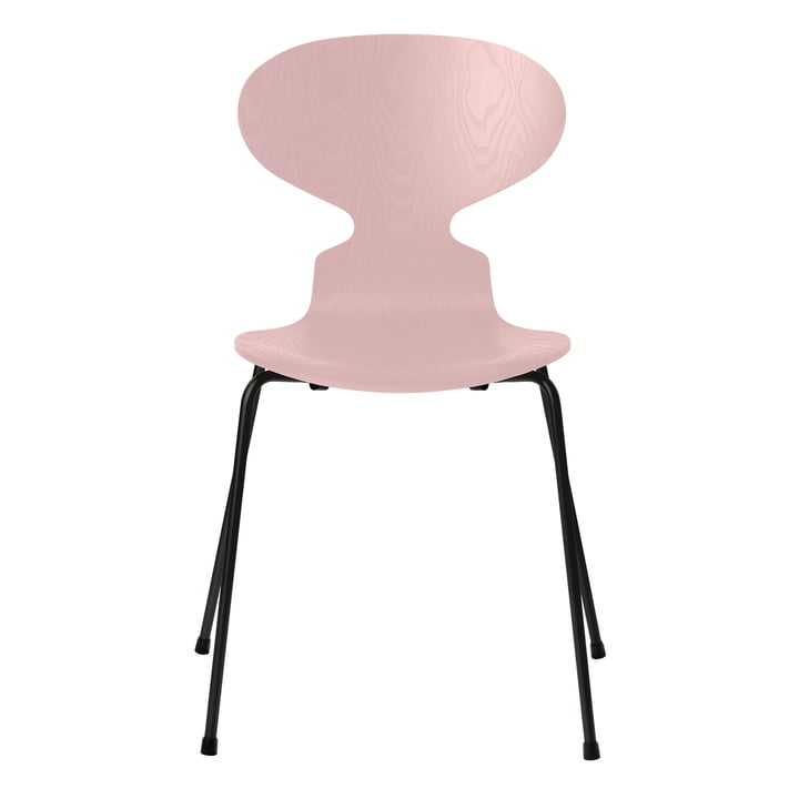 Ant chair by Fritz Hansen in ash pale rose colored / frame black