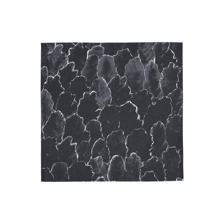 The Käpykangas napkin 45 x 45 cm, dark gray / white by Marimekko