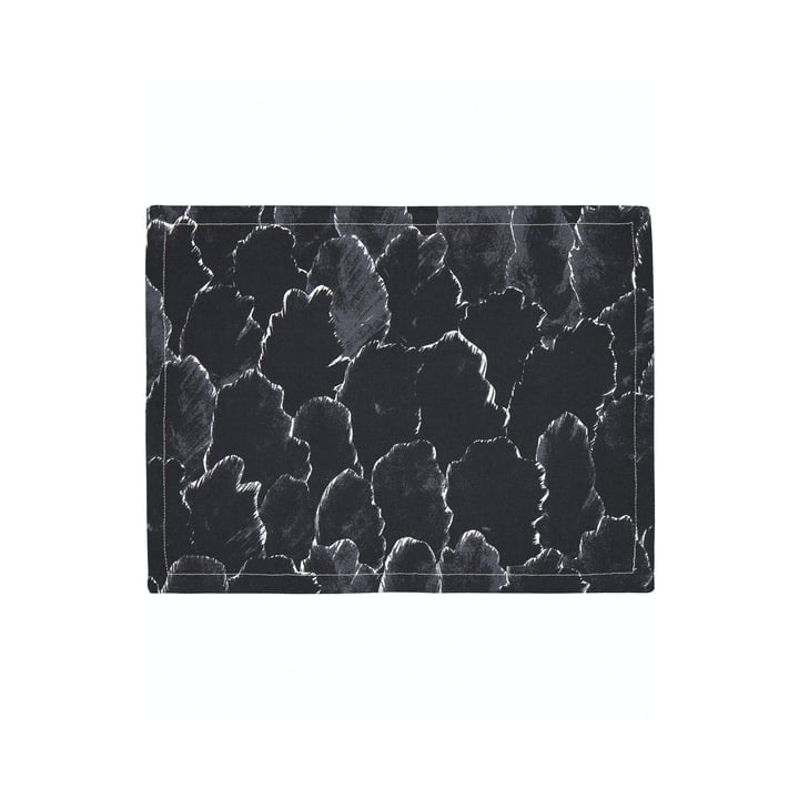 The Käpykangas placemat, dark gray / white by Marimekko