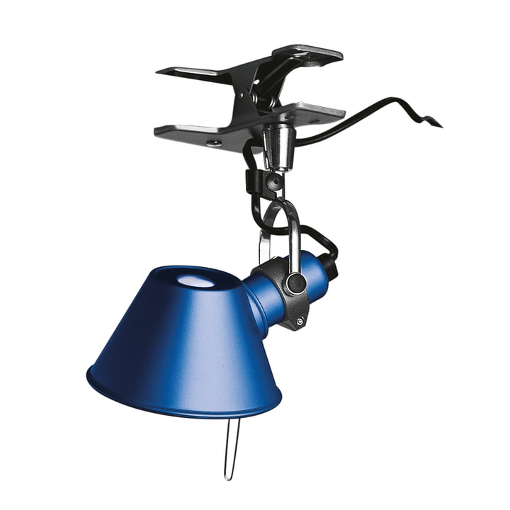 Tolomeo Micro Pinza clamp lamp by Artemide in blue