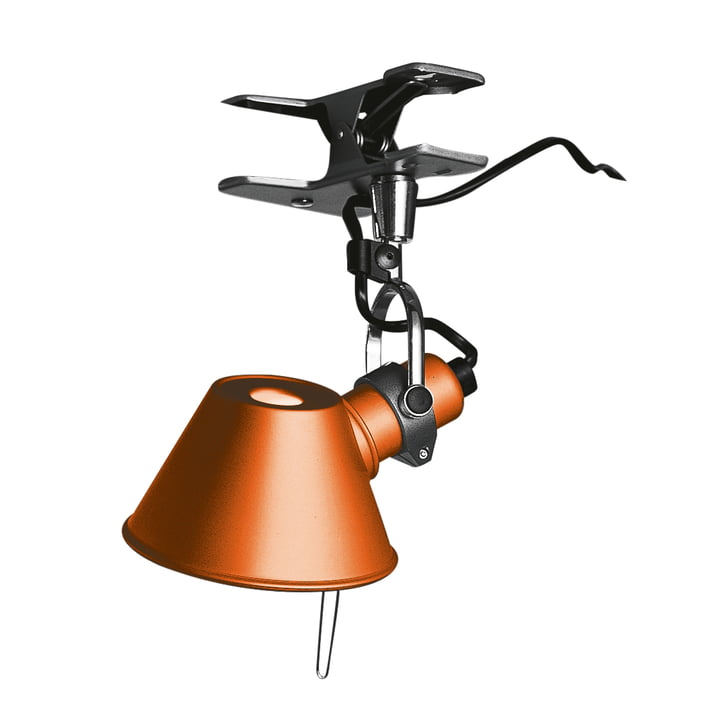 Tolomeo Micro Pinza clamp lamp by Artemide in orange