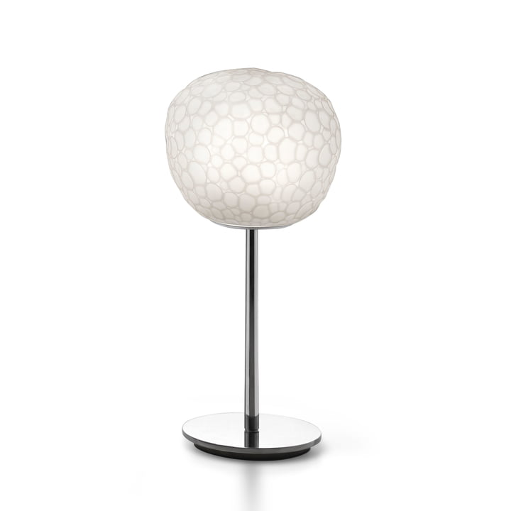 Meteorite 15 table lamp with base by Artemide in white