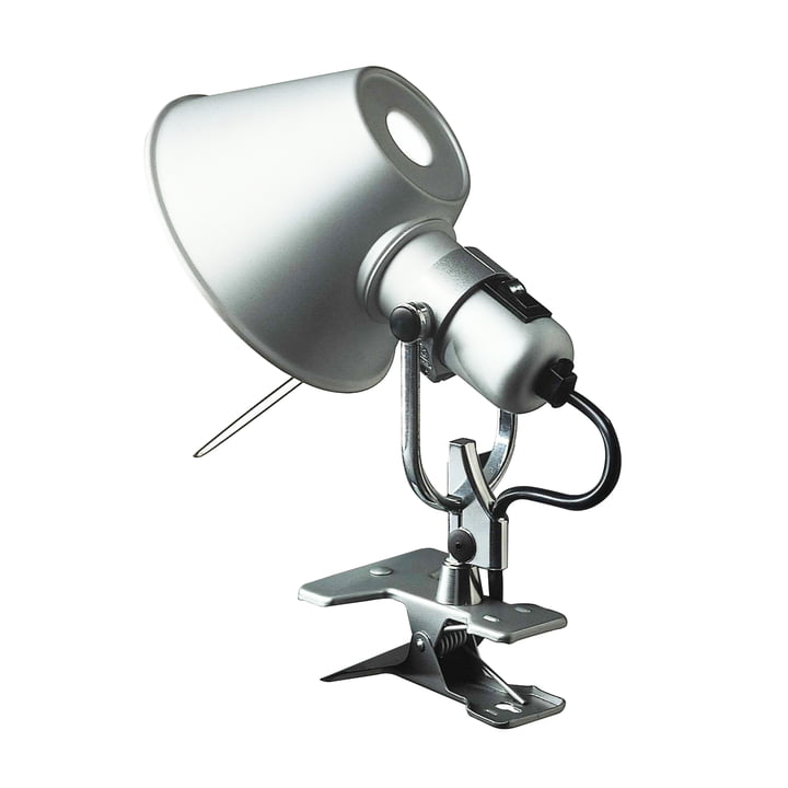 Tolomeo Micro Pinza clamp lamp by Artemide in aluminum