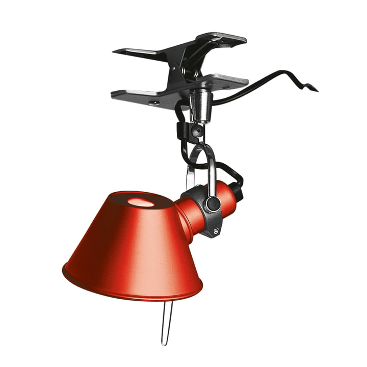 Tolomeo Micro Pinza clamp lamp by Artemide in red