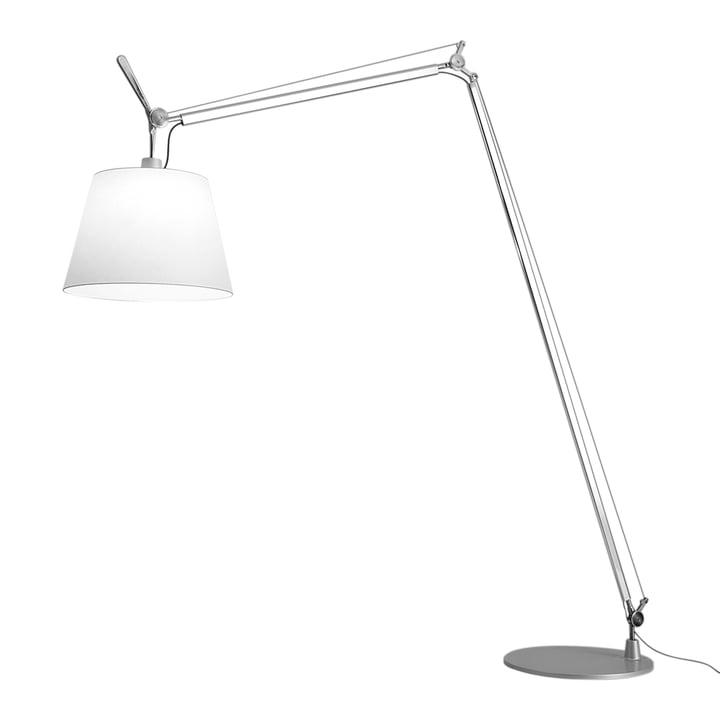 Tolomeo Maxi LED floor lamp by Artemide in aluminum