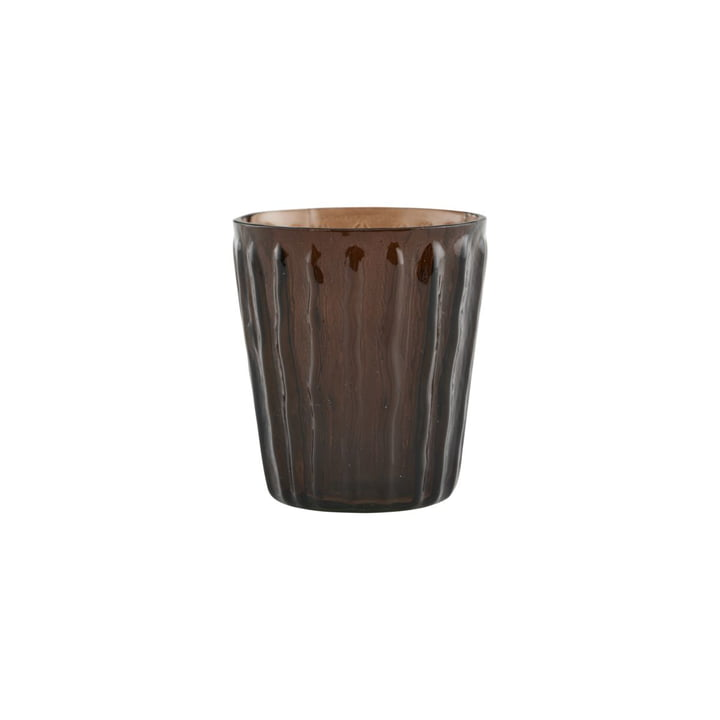 Tinka tealight holder, Ø 7 cm, brown by House Doctor