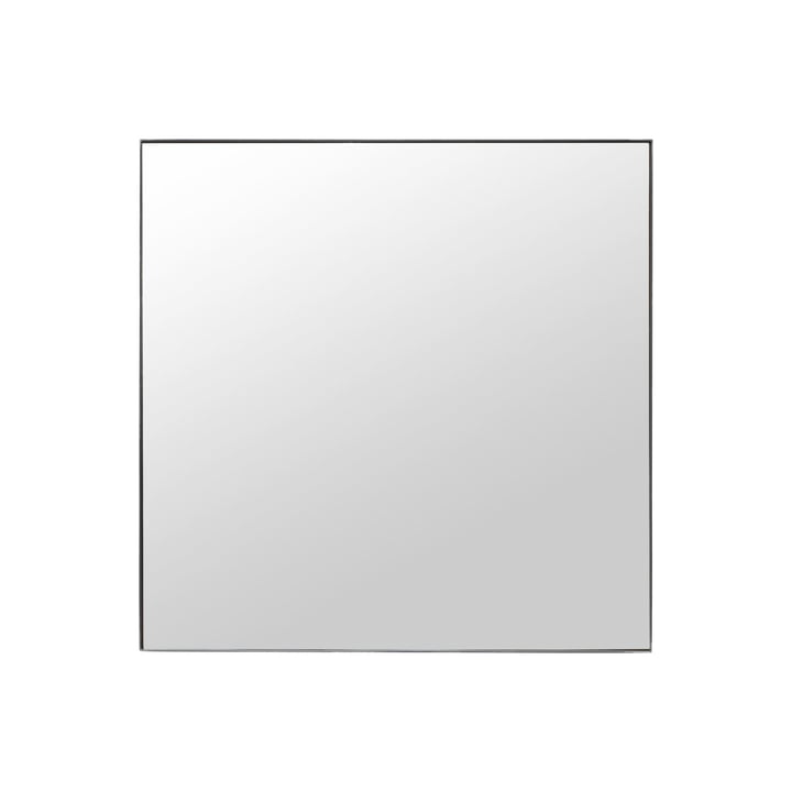 Mirror with frame, Raw, 100 x 100 cm, black frame by House Doctor