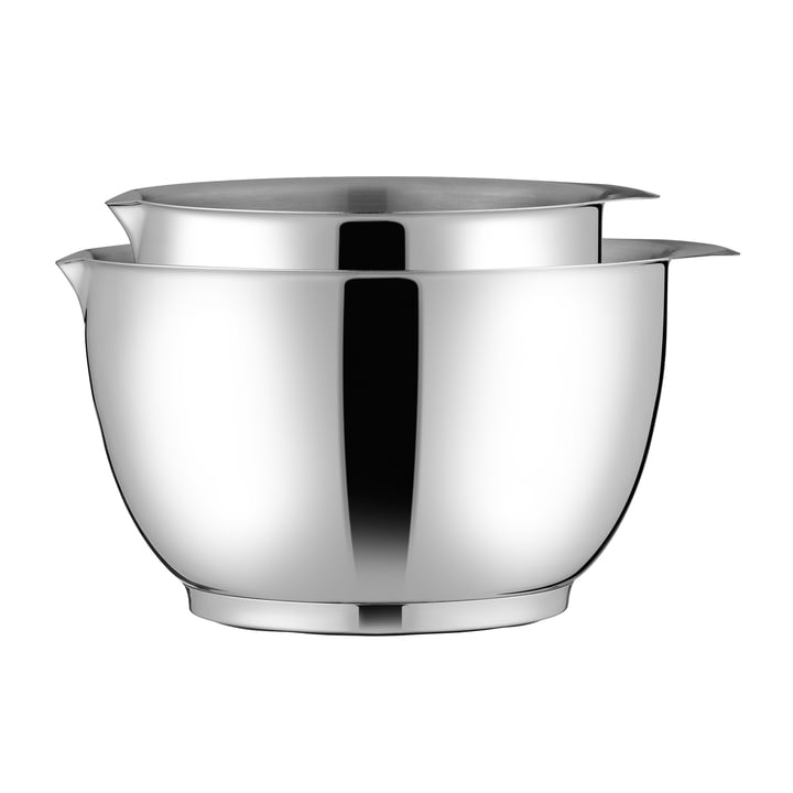 The Margrethe mixing bowl, 1.5 and 3 l, stainless steel, stacked one inside the other