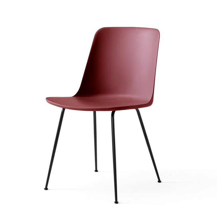 The Rely Chair FW6, red brown / black by & tradition