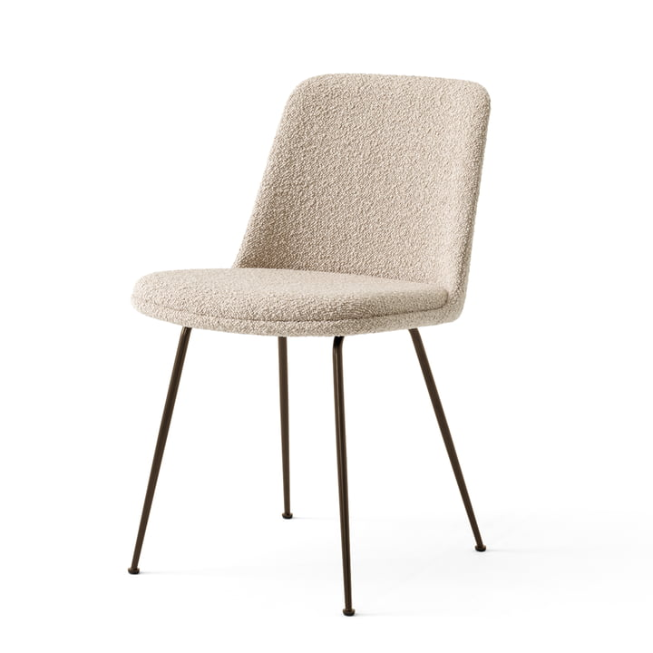 The Rely Chair HW9, bronzed steel / Karakorum 003 by & tradition
