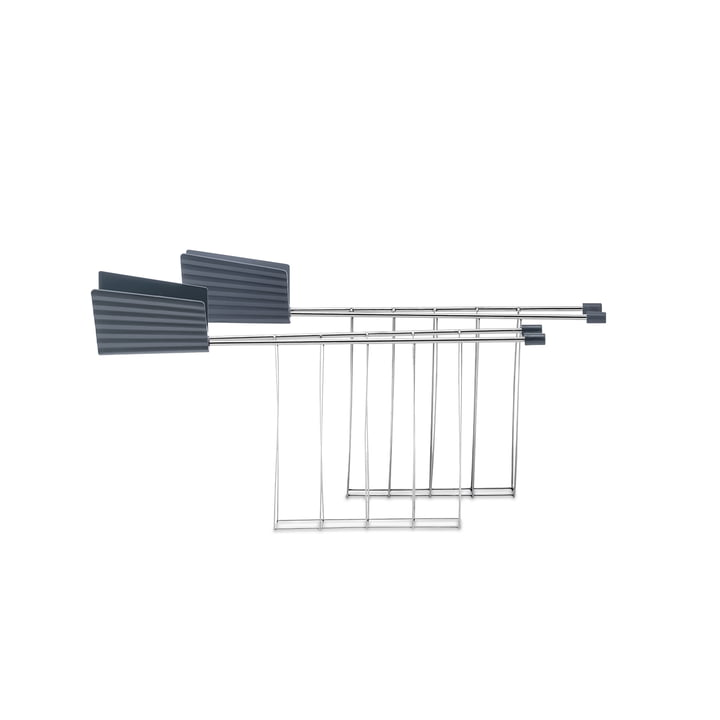 The toaster tongs for plissé toaster, grey (set of 2) from Alessi