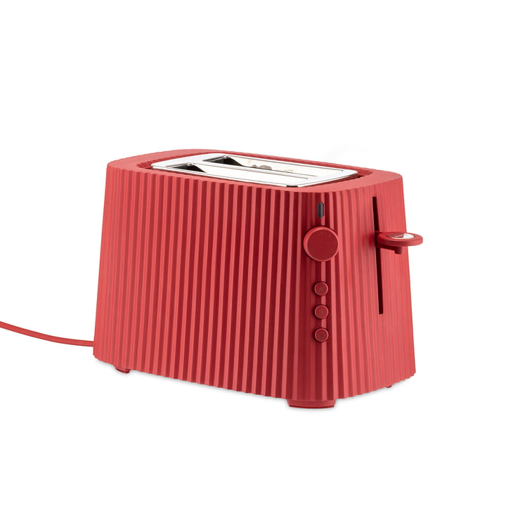 The Plissé Toaster, red by Alessi